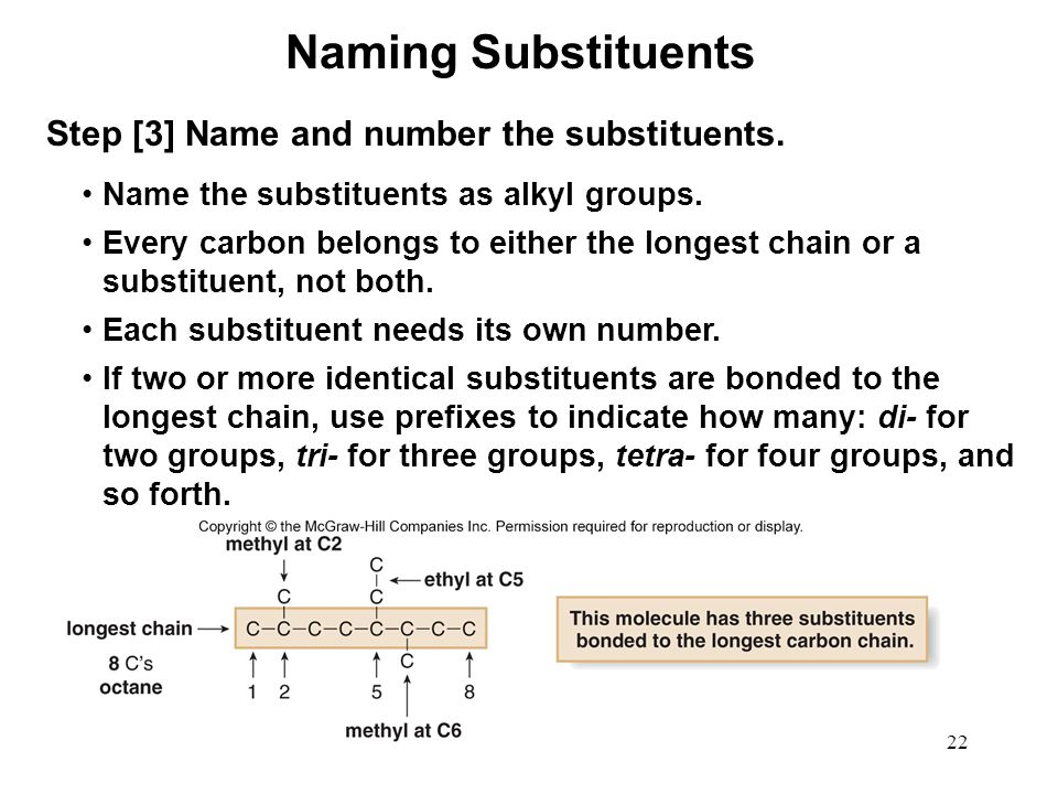 Naming Substituents Step [3] Name and number the substituents.